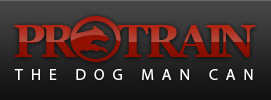 Dog Trainer in San Diego: The Dog Man Can. Logo